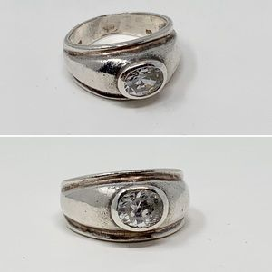 VTG Sterling Silver Gypsy Dome Cocktail Ring